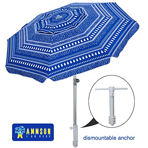 AMMSUN Beach Umbrella 7ft
