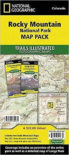 Rocky Mountain National Park, Map Pack Bundle: Trails ...