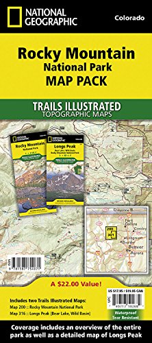 - Rocky Mountain National Park [Map Pack Bundle] (National Geographic Trails Illustrated Map)