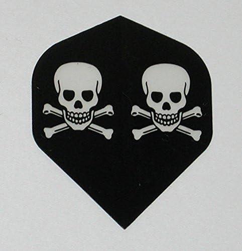 US Darts - スカルとクロスボーン5セット(15フライト) 海賊標準ダーツフライト