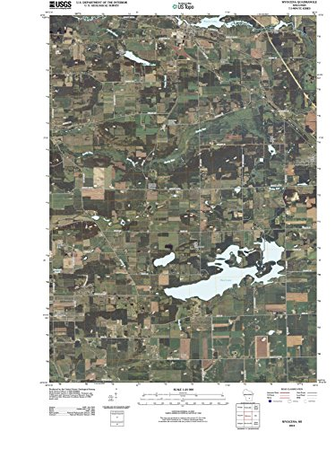Wisconsin Maps | 2010 Wyocena, WI USGS Historical Topographic Map |Fine Art Cartography Reproduction Print
