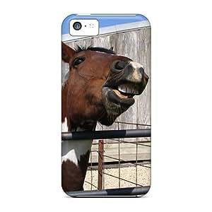 TinaMacKenzie Shockproof Scratcheproof The Awsome Horse Hard Cases Covers For Iphone 5c