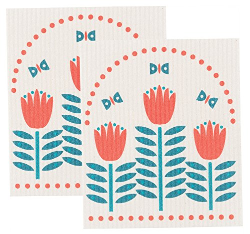 Now Designs Swedish Dishcloth, Set of Two, (Swedish Rag)