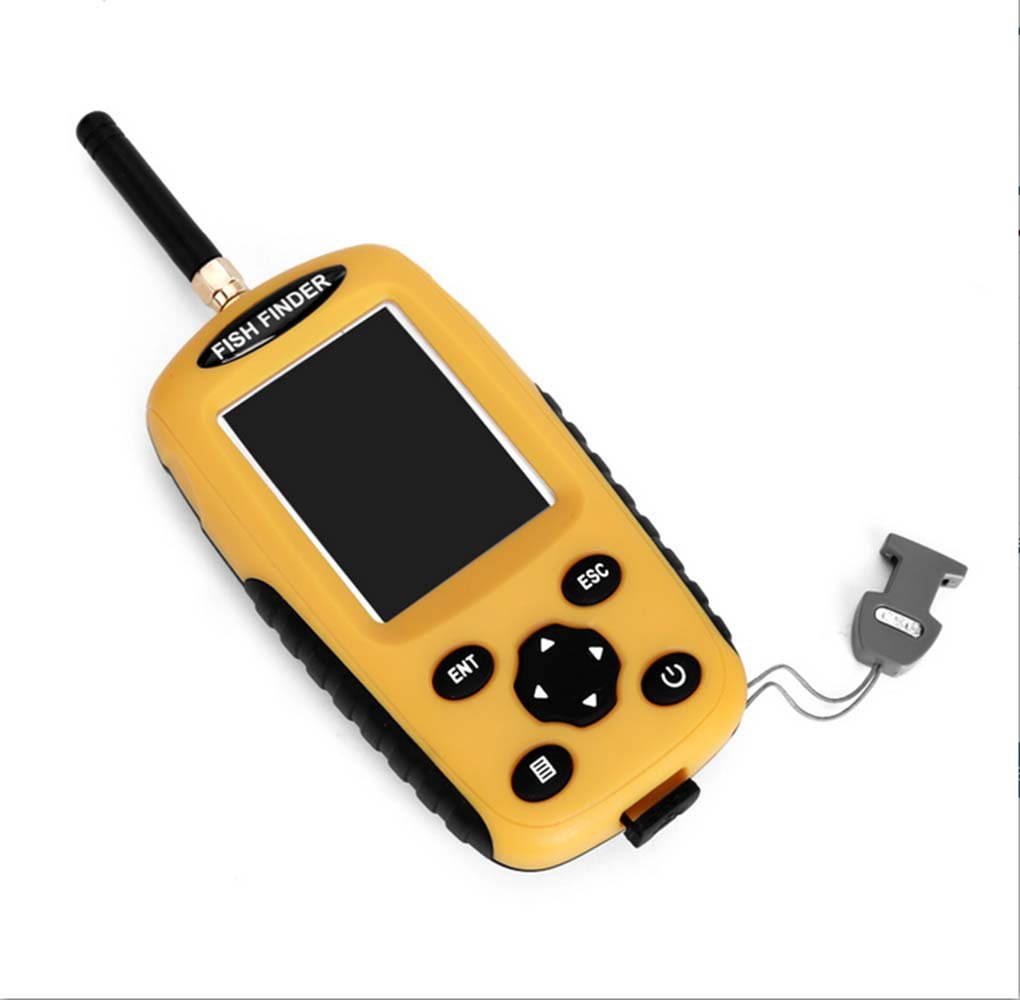 ポータブルワイヤレスフィッシュファインダー2モードHDスクリーンビジュアル水中釣りイエロー   B07CQL1HKP