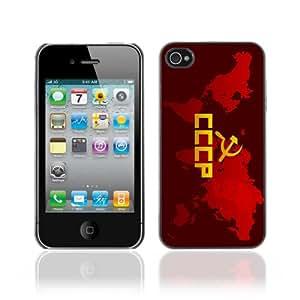 CaseCaptain Carcasa Funda Case - Apple iPhone 4 / 4S / CCCP Word Invasion /
