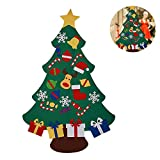 Aolvo 3FT Felt Christmas Tree with 30 Pcs Ornaments, 2018 Christmas Hanging Tree Set DIY Door Wall Decorations for Home,Offices,Schools,Best Gift for Kids,Toddler