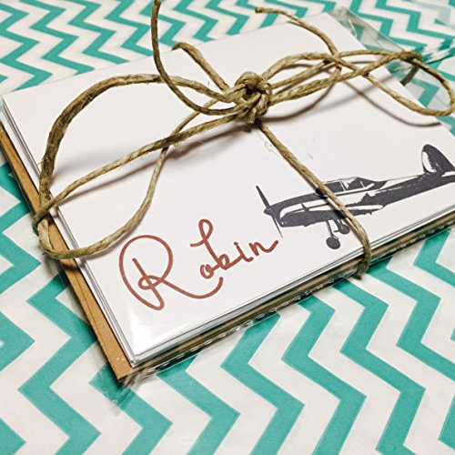 Personalized Airplane Stationery, Gift for Pilot, Set of 10 Note cards