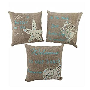 51z3vrK6UXL._SS300_ 100+ Coastal Throw Pillows & Beach Throw Pillows