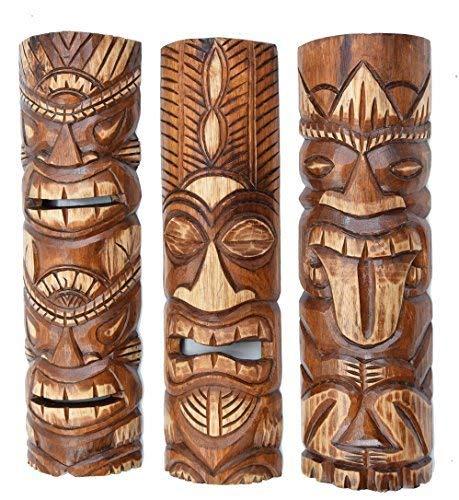 Interlifestyle 3 Tiki Máscaras 50cm Im Hawai Estilo Juego de ...