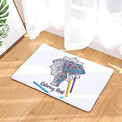Amazon.com: India Estilo Elefante Impresión Alfombras ...