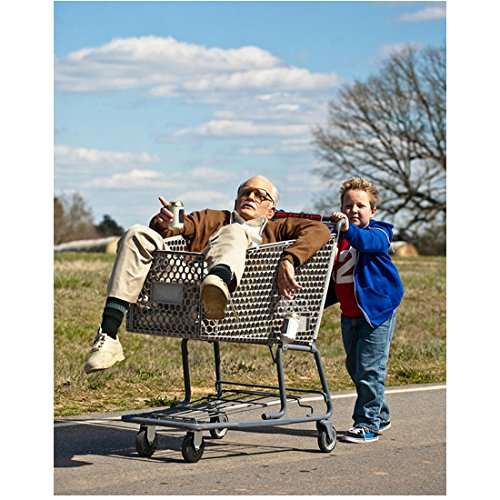 Bad Grandpa Johnny Knoxville as Irving Zisman in Shopping Cart Ready to Pass Out 8 x 10 inch - Irving Shopping