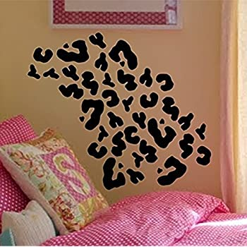 Cheetah Print Wall Decal Interior Home Vinyl Art Wall Decor For Kids  Bedroom Decoration Sticker