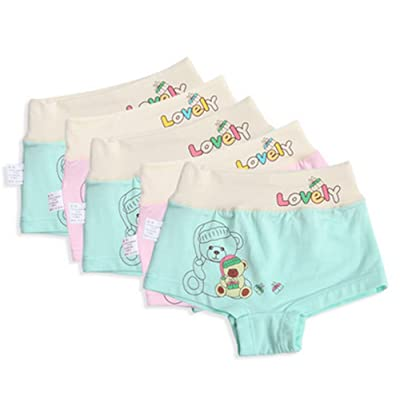 5 Pack Little Boys Cartoon Bear Boxers Panties Height 100CM/Random Color