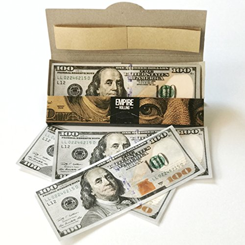Rolling Papers Smoking (Empire $100 Dollar Bill Premium Rolling Paper Benny)