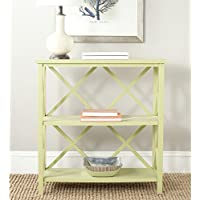 Safavieh American Homes Collection Liam Split Pea 2-Tier Open Bookcase