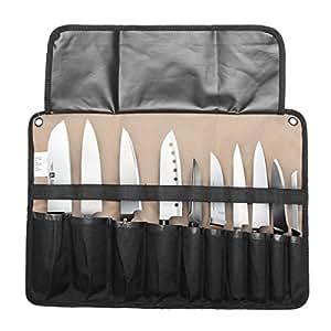Amazon.com: Cuchillo de chef bolsa rollo bolsa funda de ...