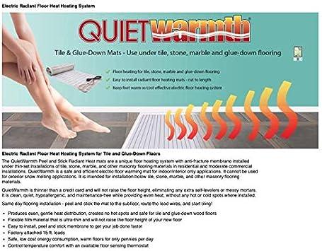 1.5 x 10 15 Sqft Electric Floor Heating System for Tile /& Glue-Down Floors