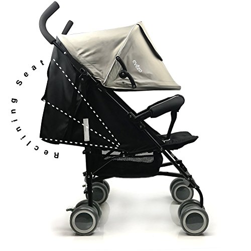 5 Point Harness Reclining Umbrella Stroller - 2