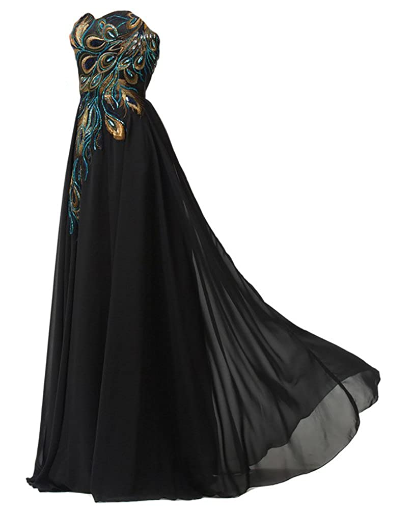 Amazon.com: WAWALI Peacock Pattern Hand Embroidery Prom Dresses Evening Pary Gowns: Clothing