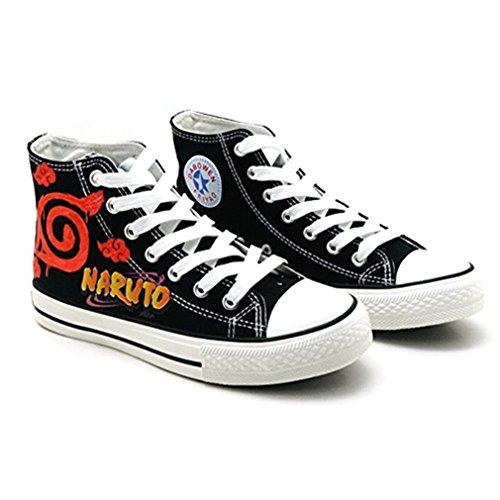 Bromeo Naruto Unisexo Hola-Top Zapatillas de lona Trainers Zapatos Shoes