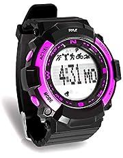 ساعة يد رياضية من بايل PSPTR19 - ساعة معصم لتتبع اللياقة البدنية مع مؤقت تنازلي وساعة إيقاف كرونوغراف - عداد الخطوات والسعرات الحرارية - وظيفة مراقبة النوم المدمجة
