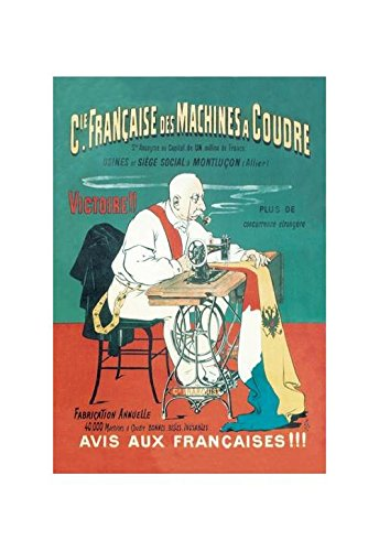 Buyenlarge CIE Francaise Des Machines A Coudre Print (Unstretched Canvas Giclee 20x30)
