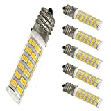Ceramic E17 LED Bulb for Microwave Oven Appliance, 5W 120V T8 T7 E17 Intermediate Base LED Bulb 50W Equivalent for Home, Kitchen Appliances and Light Fixtures, Warm White 3000K (Pack of 5)