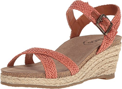 Taos Footwear Women's Hey Jute Burnt Orange Sandal 38 M EU/7-7.5 B(M) US