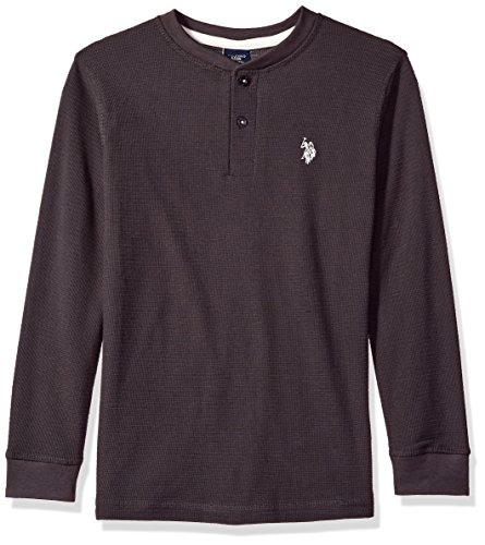 U.S. Polo Assn. Long Sleeve Solid Thermal Henley