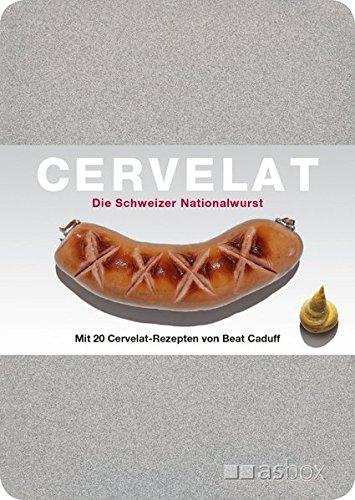 Cervelat - Die Schweizer Nationalwurst, Postkartenbox: Alu-Kartenbox mit 50 Postkarten, inkl. 20 Cervelat-Rezeptkarten von Beat Caduff