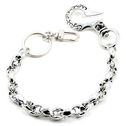 DoubleK Simple Classic Key Jean Wallet Chain (14/3.6oz) Silver CS105