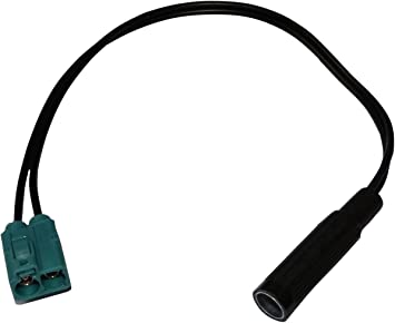 Adaptador DIN de antena autoradio para coche auto vehiculos AERZETIX