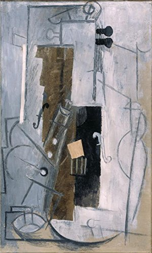 'Clarinet And Violin,1913 By Pablo Picasso' Oil Painting, 16x27 Inch / 41x68 Cm ,printed On Polyster Canvas ,this High Resolution Art Decorative Prints On Canvas Is Perfectly Suitalbe For Kids Room Decoration And Home Gallery Art And Gifts