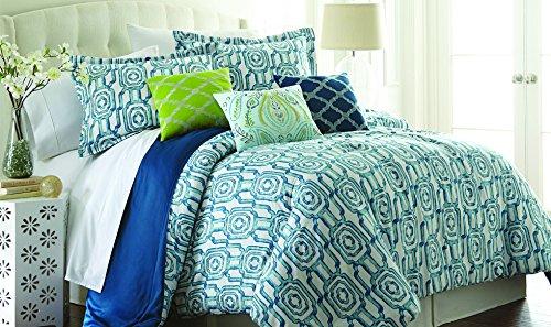Amrapur 4T200CCM-EDN-QN 200 Thread Count 100/% Cotton 6-Piece Comforter Set Edna Queen