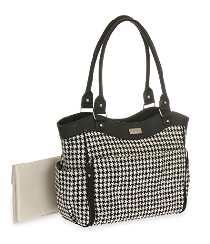 Carters Front Houndstooth Diaper Black