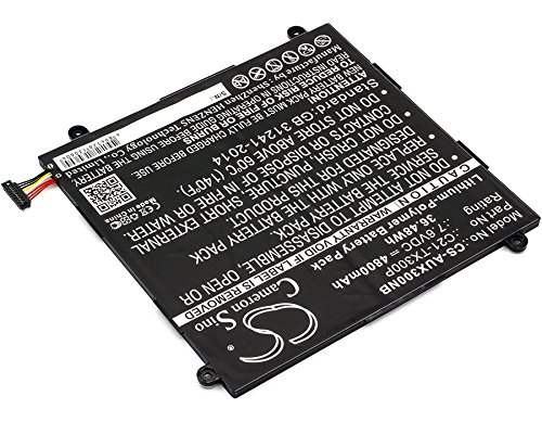 Cameron Sino 4800mAh / 36.48Wh Li-Polymer High-Capacity Replacement Batteries for Asus Transformer Book TX300CA/ Transformer Book TX300CA 13.3'' , fits Asus C21-TX300P by Cameron Sino (Image #2)