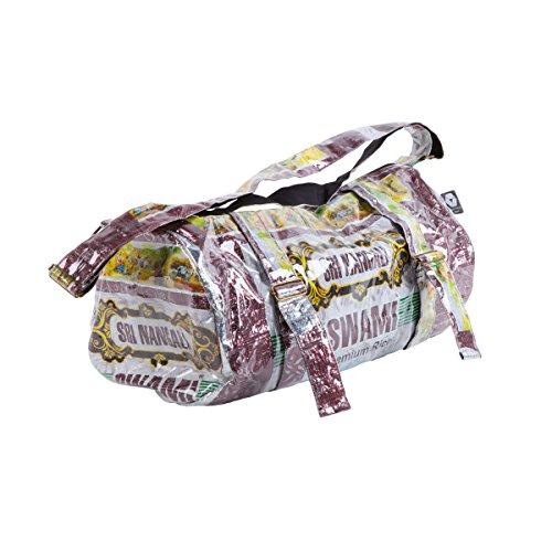 Shakti Milan Yoga Sporttasche Sri Nangali Upcycled Tasche recycled Reissack Schultertasche Schultasche Umhängetasche Meditation
