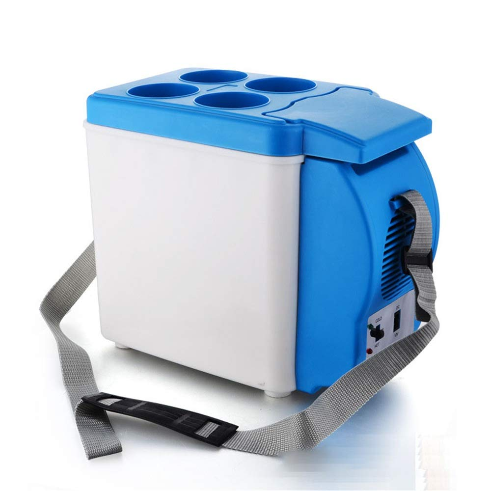 Nrthtri Upgraded Electric Car Refrigerator Portable Mini Fridge with Cold and Hot Functionality ECO Power Saving Mode car Refrigerator car Refrigerator (Color, Size : 6L)