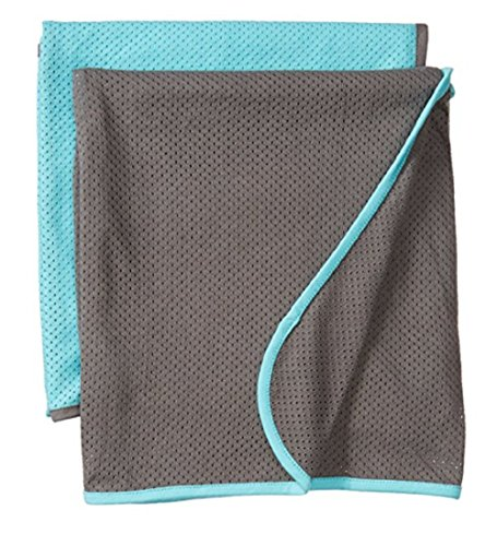 Baby K'tan All-Natural Cotton Mesh Breathable Newborn Baby Swaddle and Toddler Blanket, 2 Pack (Teal/Charcoal)
