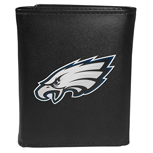 Siskiyou Sports NFL Philadelphia Eagles Tri-fold Wallet Large Logo, Black ()