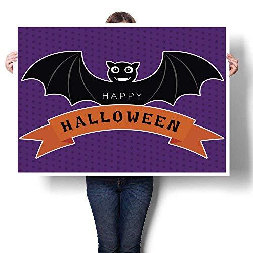 (Anyangeight Landscape Canvas Halloween bat Decorative Fine Art Canvas Print Poster K 20