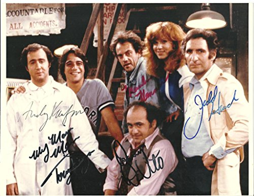 Taxi Cast (Taxi cast signed autographed 8 X 10 Reprint Photo - Beautiful !)