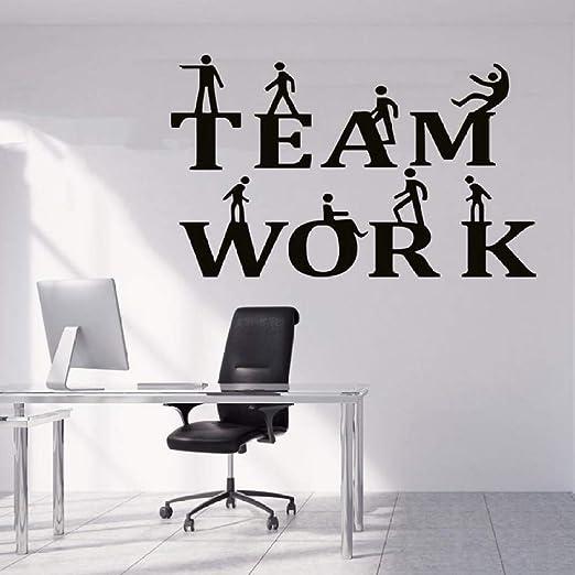 HNXDP Office Quote Wall Decal Idea Trabajo en equipo ...