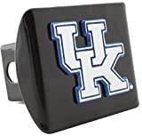 AMG University of Kentucky METAL emblem (chrome with royal blue trim) on black METAL Hitch Cover