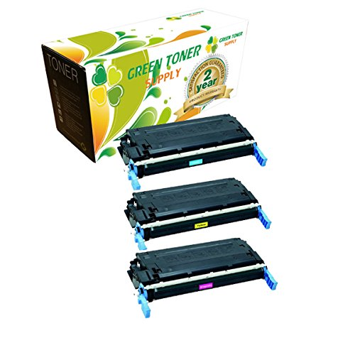 (Green Toner SupplyTM Remanufactured Toner Cartridge Replacement for HP Q6471A Q6472A Q6473A (1 Cyan, 1 Yellow, 1 Magenta, 3-Pack) )