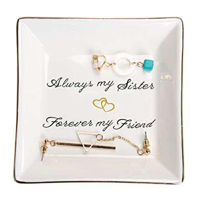 HOME SMILE Sister Gifts Trinket Dish