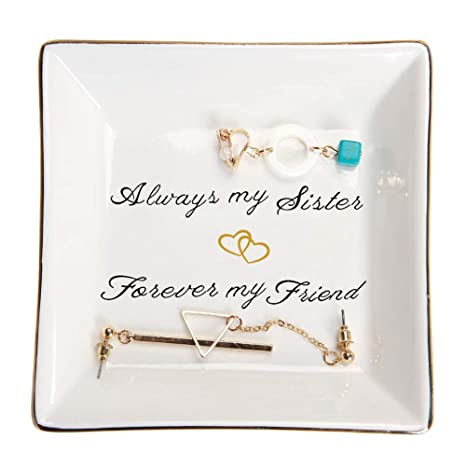 Amazon HOME SMILE Sister Gifts Trinket Dish Always My Sister