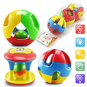 Baby Toys, Teether Toys, Baby Rattles, 3pcs/set Educational Toys Baby Toddler Plastic for Children 3 Years