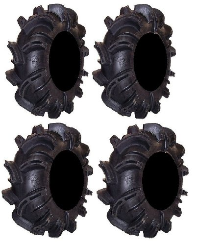 (Full set of Gorilla Silverback 30x9-14 and 30x11-14 ATV Mud Tires (4))
