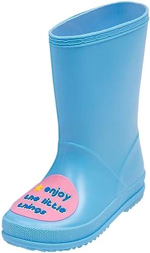 Bottes de pluie et neige mi-mollet pour filles ou gar/çons Bottes en caoutchouc pour enfants